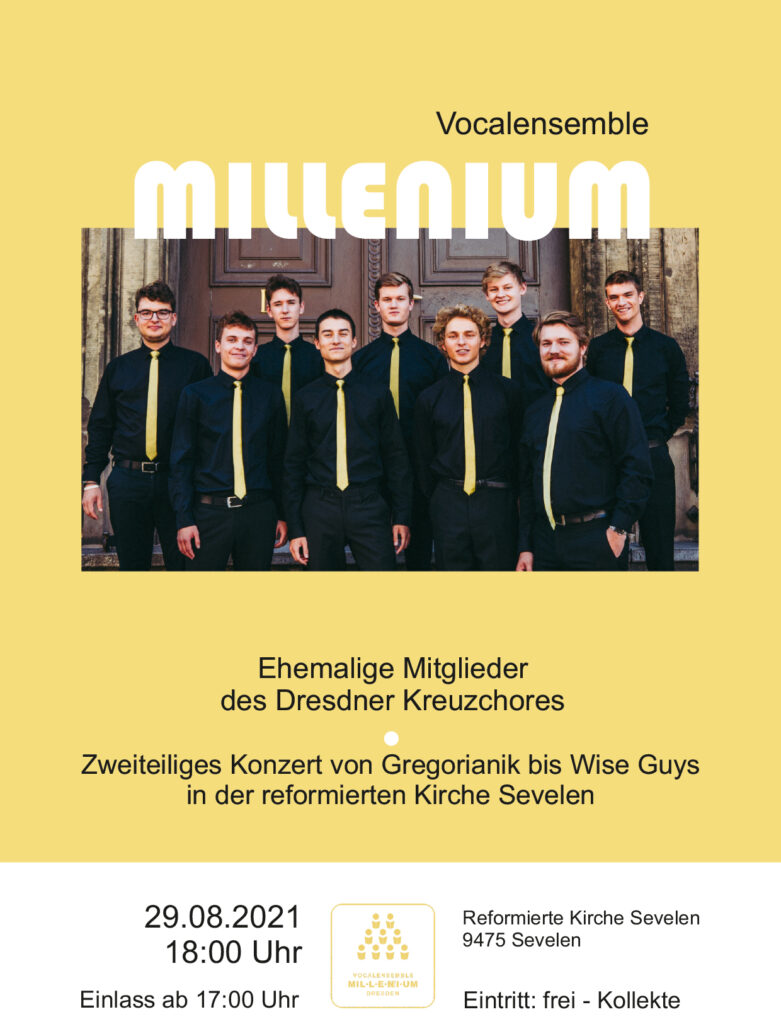 Konzertplakat Millenium Chor